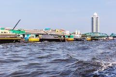 Big sand barge Stock Photography