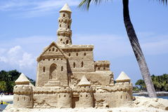 Big sand castle Stock Image
