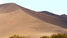 Big Sand Dunes in the desert of Nevada. Travel photography stock video footage