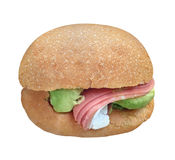 Big sandwich cutout Royalty Free Stock Photo