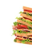 Big sandwich with fresh vegetables. Stock Image
