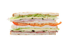 Big sandwich on a white background stock photography