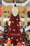Big Santa Claus Christmas tree Royalty Free Stock Photos