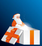 Big Santa´s gift Stock Photography