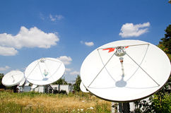 Big satellite antennas Royalty Free Stock Image