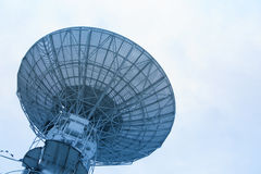 Big satellite dish antennas under sky Royalty Free Stock Images