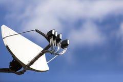 Big satellite dish with multifeed LNB Royalty Free Stock Photography