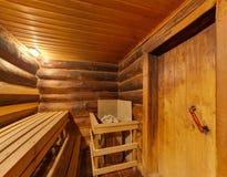 Big sauna with the furnace Royalty Free Stock Photos