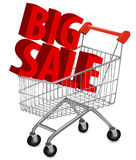 Big save in a shopping cart . Concept of discount. Stock Image