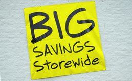 Big Savings Stock Photos