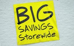 Big Savings. Sign Stock Photos
