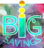 Big savings Stock Photo