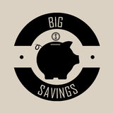 Big savings Stock Image