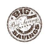 Big savings rubber stamp Stock Photos
