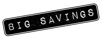 Big Savings rubber stamp Royalty Free Stock Photos