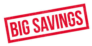 Big Savings rubber stamp Royalty Free Stock Images