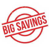 Big Savings rubber stamp Royalty Free Stock Photo