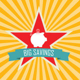 Big savings Stock Photo