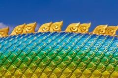 The Big scaly Naga snake Royalty Free Stock Image