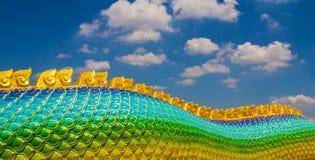 The Big scaly Naga snake Stock Photography