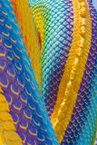 The Big scaly Naga snake Royalty Free Stock Images
