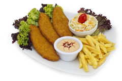Big Schnitzel - Escalope Stock Images