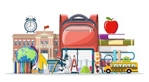 Big school set. Royalty Free Stock Images
