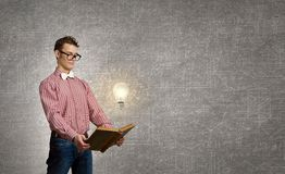 Big science head Stock Photo