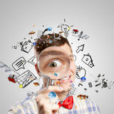 Big science head Royalty Free Stock Images