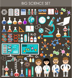 Big science set. Infographics. Royalty Free Stock Image
