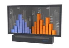 Big screen. Stock Photo