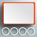 Big Screen Rectangeles 4 Rings PiAd Stock Photos