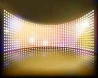 Big screen on the stage. Vector illustration. Royalty Free Stock Photo