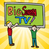 Big Screen Television Royalty Free Stock Photos