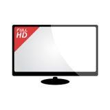 Big screen television Royalty Free Stock Image