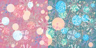 Big seamless floral  colorful pattern Royalty Free Stock Photo