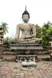 Big seated buddha statue sukhothai thailand Royalty Free Stock Image