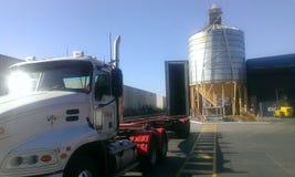 Big semi trailer truck. Stock Photos