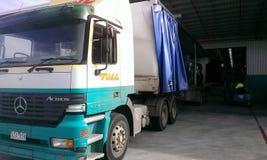 Big semi trailer truck. Royalty Free Stock Photos