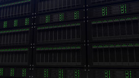 Big server racks, shallow focus. Search and IT business concept. 3D rendering Royalty Free Stock Photo