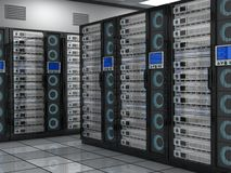 Big server room Royalty Free Stock Photography