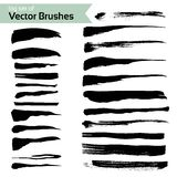 Big set of abstract brush textured strokes Stock Image