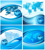 Big set of abstract business backgrounds Stock Photo