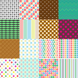 Big set of abstract retro seamless simple patterns eps10 Stock Photography