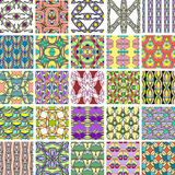 Big set of abstract retro style seamless patterns Stock Photos