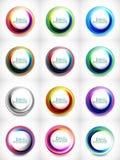 Big set of abstract swirls Stock Image
