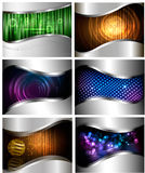 Big set of abstract technology backgrounds Stock Photo