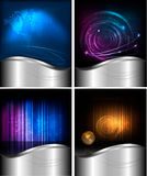 Big set of abstract technology backgrounds Royalty Free Stock Images