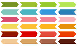 Big set of arrows in shades of green, blue, pink, orange, red an Royalty Free Stock Photography