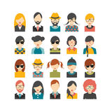 Big set of avatars profile pictures flat icons. Stock Images